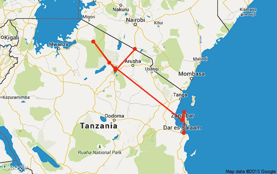 Tanzania itinerary