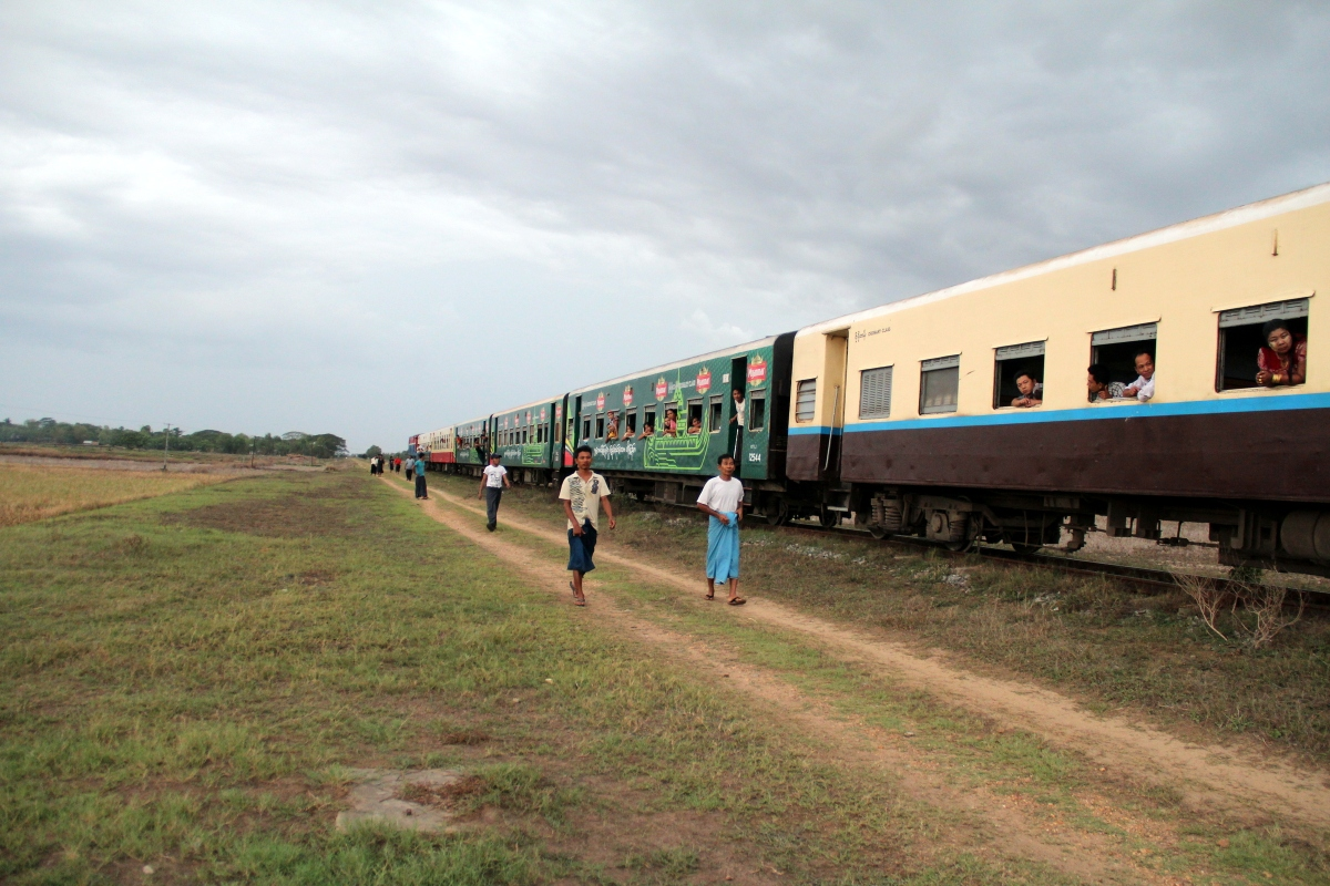 From Yangon to Bagan by train